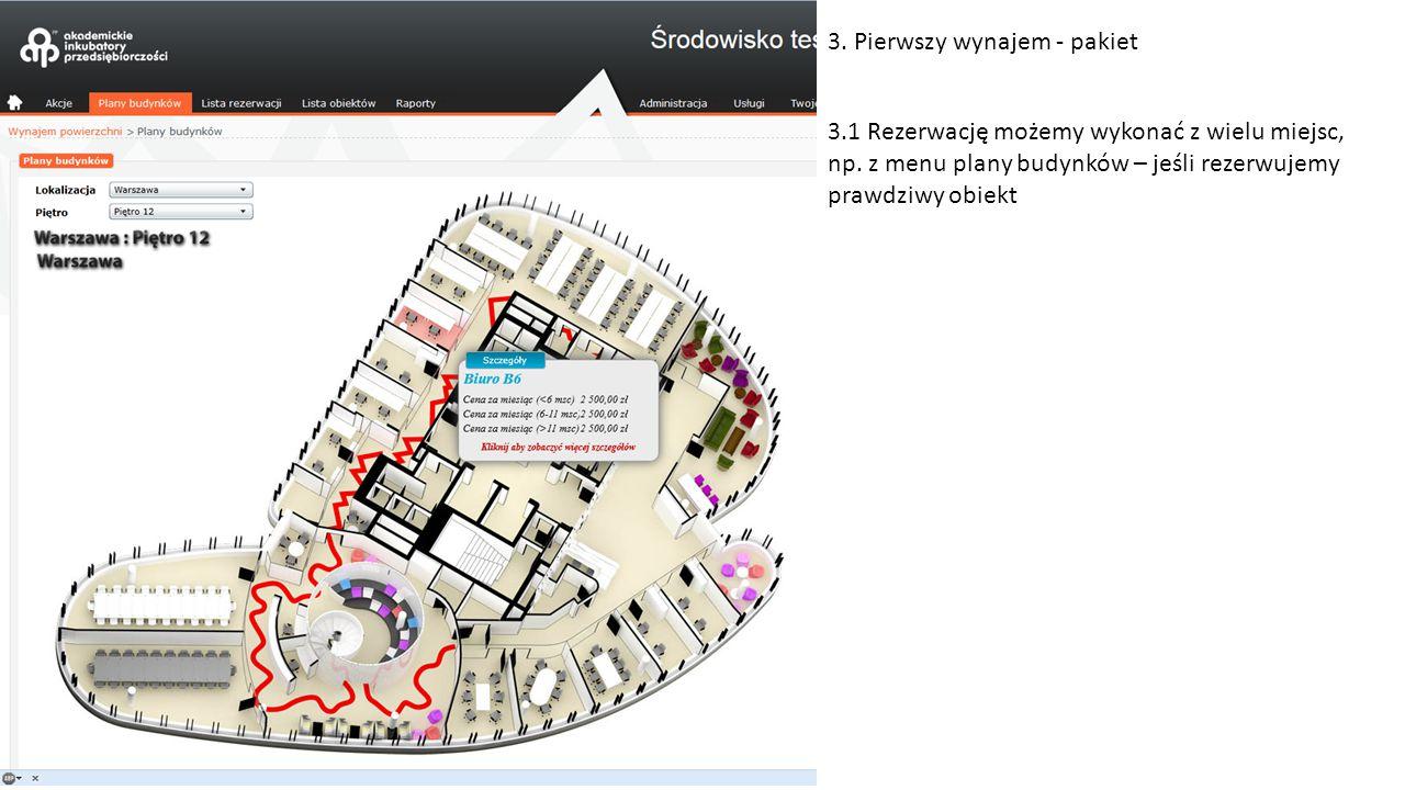 3.2 Po kliknięciu na obiekt na mapce, pokazują się jego szczegóły i możliwość rezerwacji