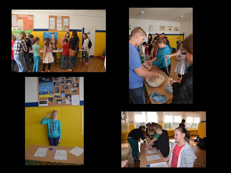 Zajęcia dla młodszych kolegów w ramach współpracy Gimnazjum nr 8 z SP nr 38