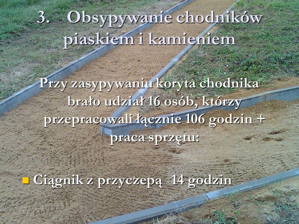 3.Obsypywanie chodników piaskiem i kamieniem
