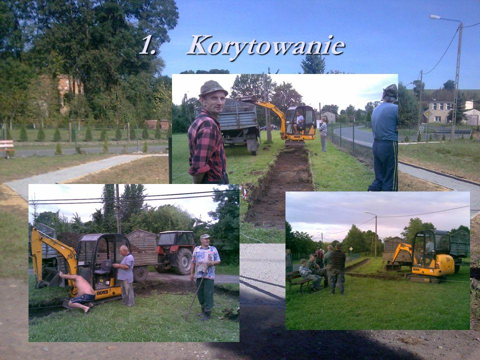 Pierwsze prace rozpoczęliśmy 18 lipca br. Prace wykonane były w 3 etapach 1.