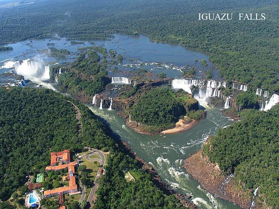 This next waterfall consists of about 270 falls along 2.7 kilometers of the Iguazu River.