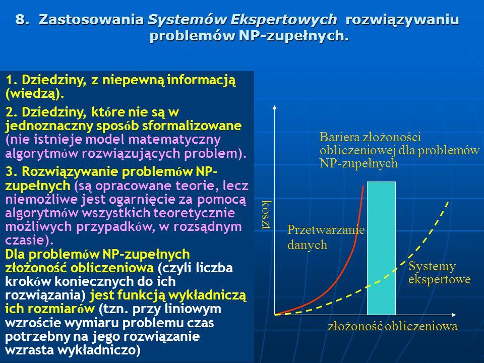 8. Zastosowania Systemów Ekspertowych rozwiązywaniu problemów NP-zupełnych. 8. Zastosowania Systemów Ekspertowych rozwiązywaniu problemów NP-zupełnych