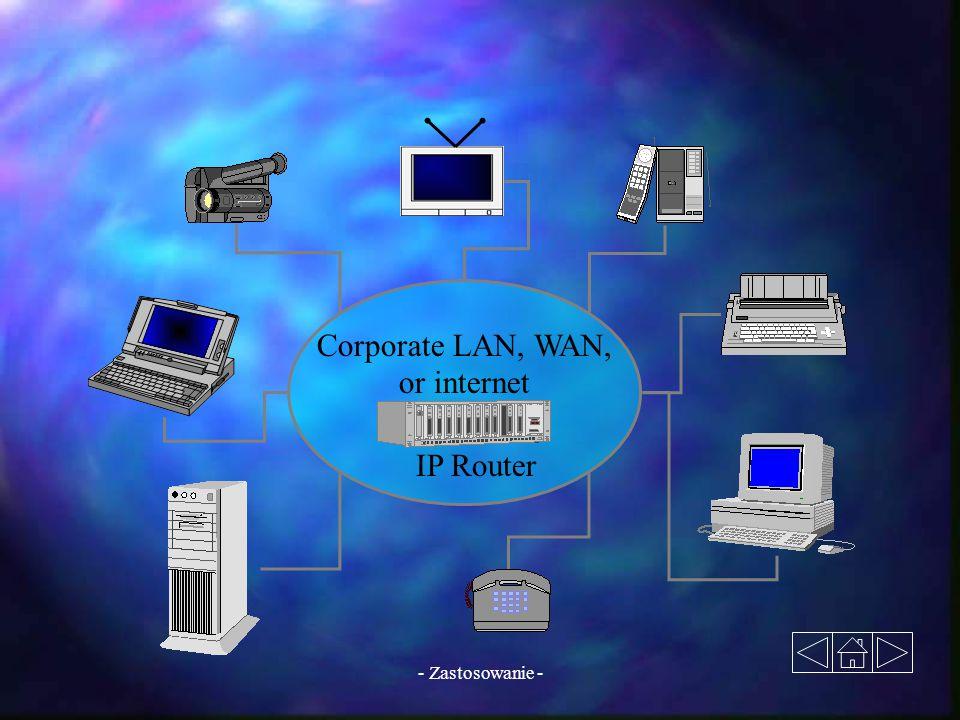 - Zastosowanie - IP Router Corporate LAN, WAN, or internet
