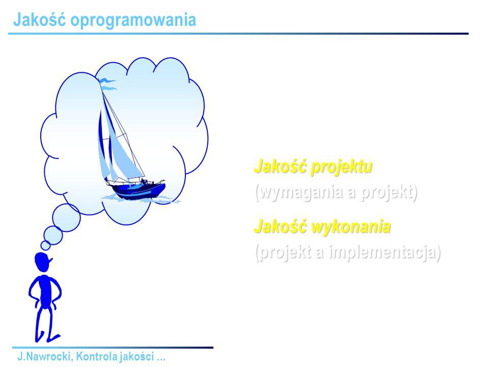 J.Nawrocki, Kontrola jakości... Rola przeglądów Zapewnianie jakości Przekazywanie informacji
