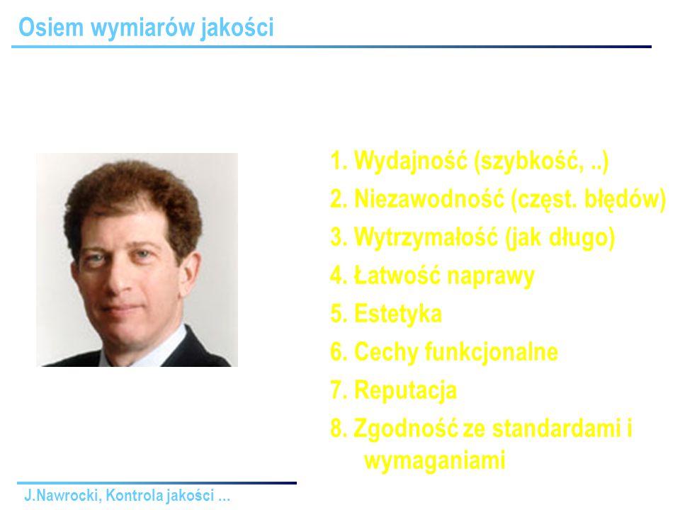J.Nawrocki, Kontrola jakości... Osiem wymiarów jakości 1.