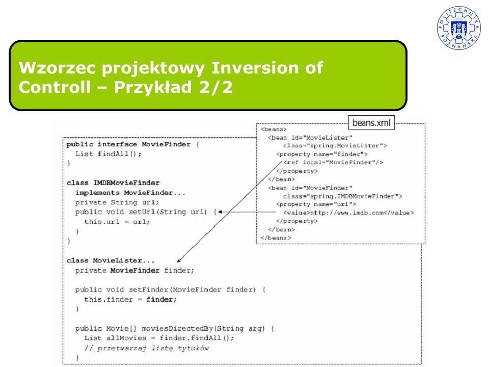 Wzorzec projektowy Inversion of Controll – Przykład 2/2
