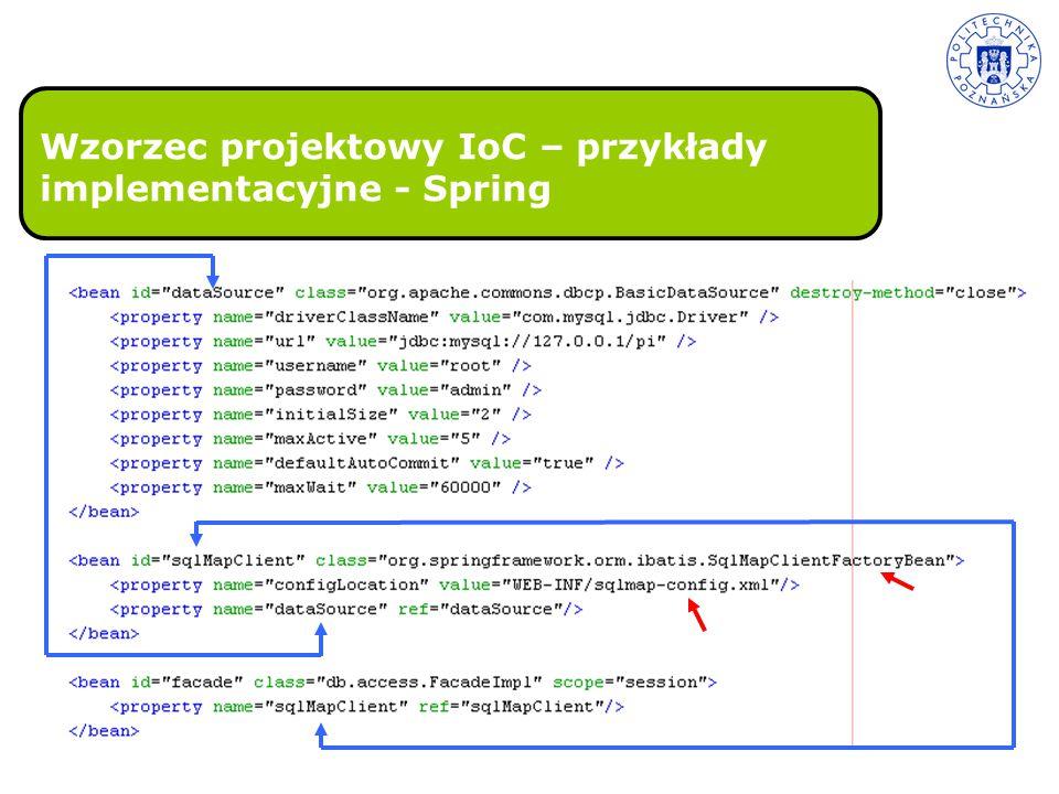 Wzorzec projektowy IoC – przykłady implementacyjne - Spring