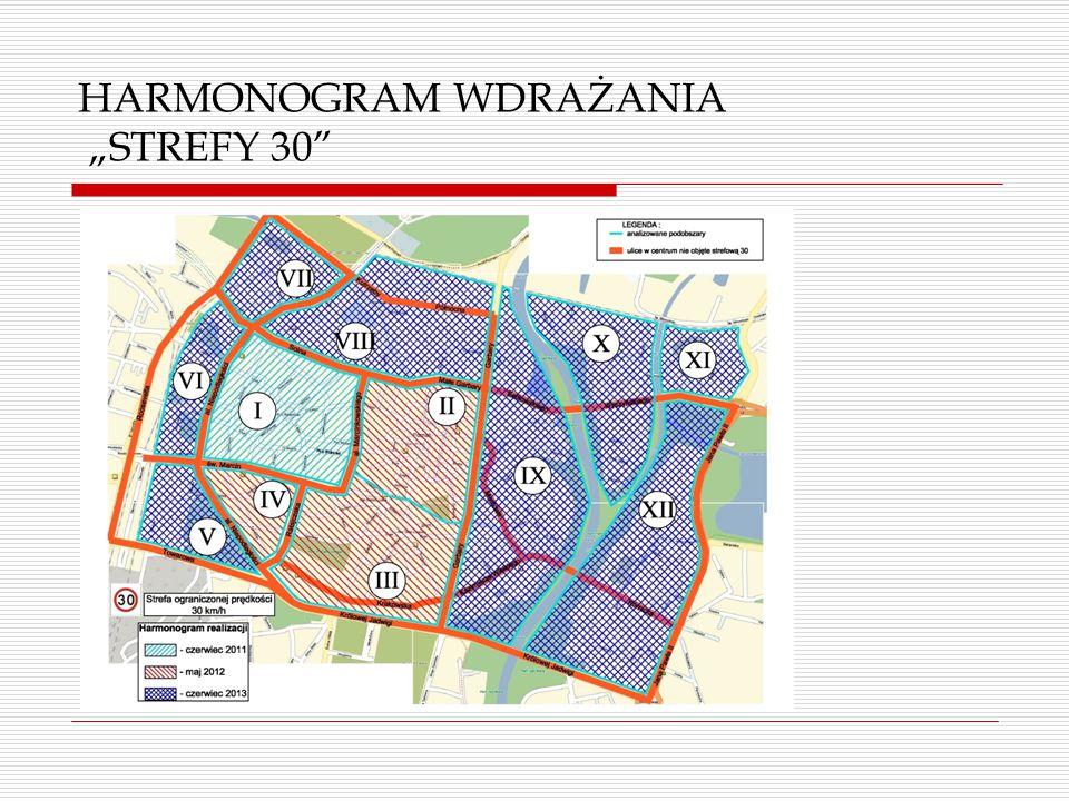 "HARMONOGRAM WDRAŻANIA ""STREFY 30"""