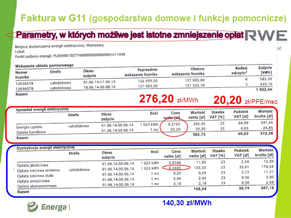 Faktura w C11 (odbiór komercyjny) 374,3 25,12 161,2