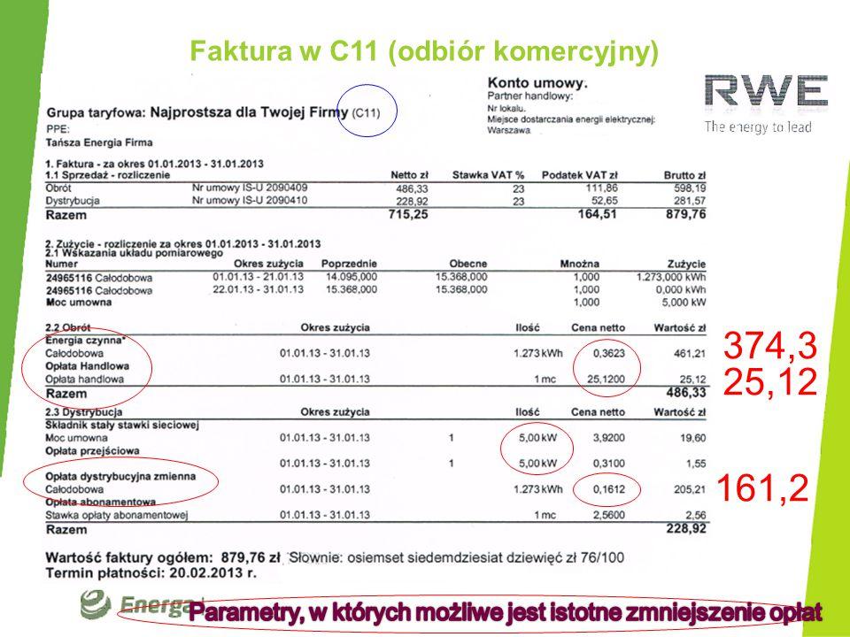Idea oszczędności w dystrybucji w G11 2014r.cz1 Taryfa RWE w dystrybucji 2014r.