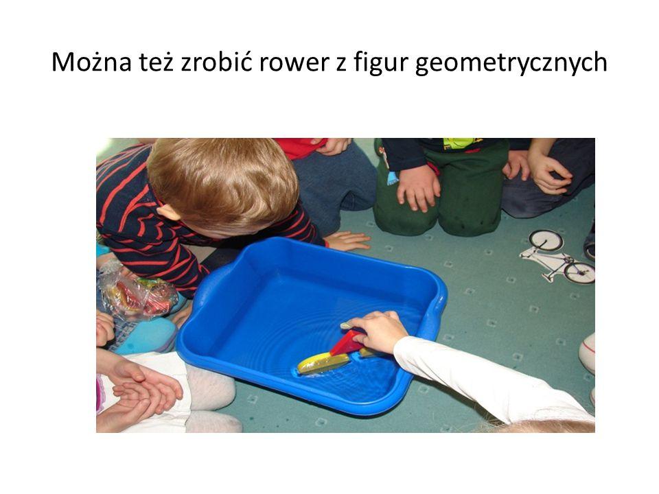 Można też zrobić rower z figur geometrycznych