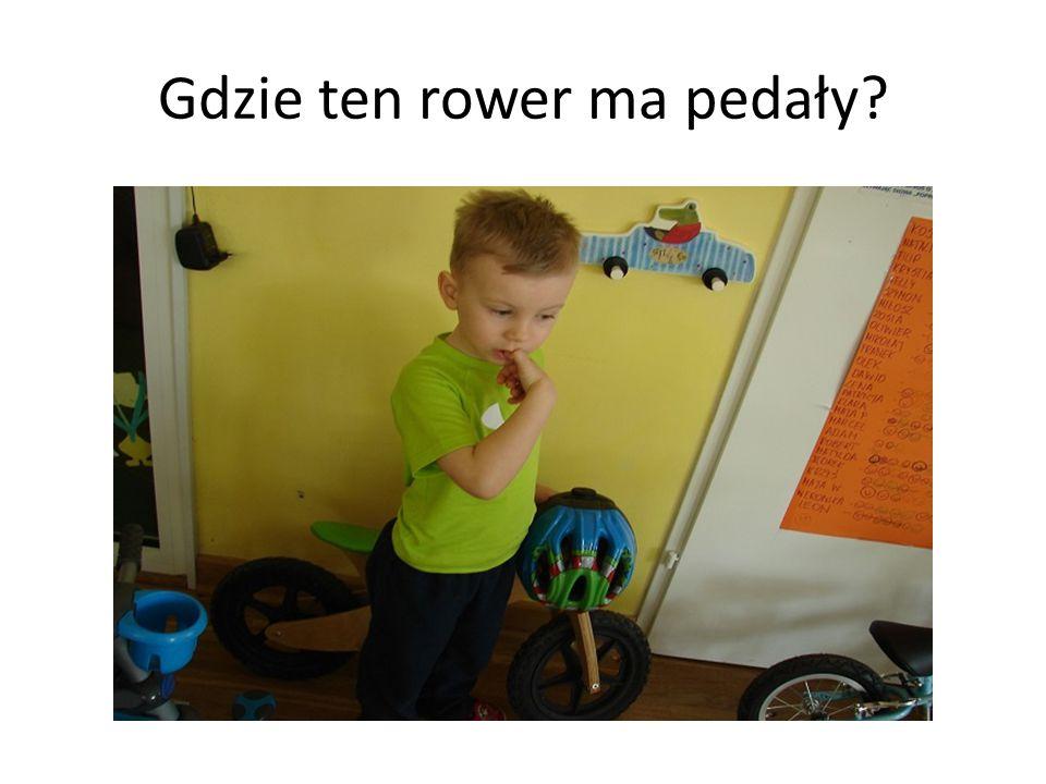 Gdzie ten rower ma pedały?