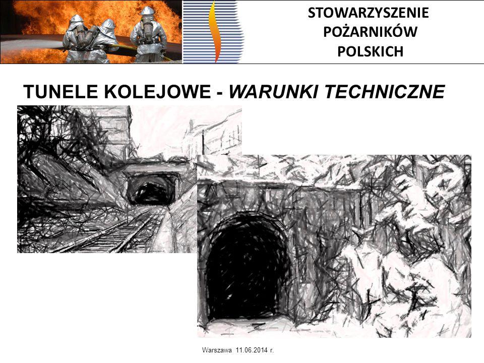 STOWARZYSZENIE POŻARNIKÓW POLSKICH TUNELE KOLEJOWE - WARUNKI TECHNICZNE Warszawa 11.06.2014 r.