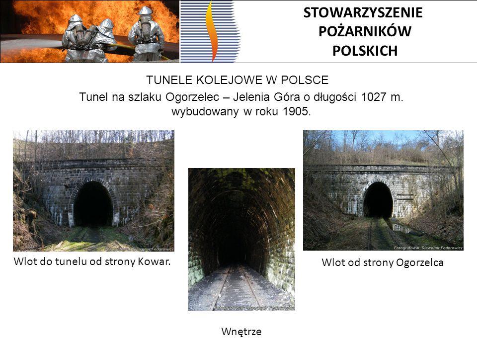 STOWARZYSZENIE POŻARNIKÓW POLSKICH TUNELE KOLEJOWE W POLSCE Tunel na szlaku Ogorzelec – Jelenia Góra o długości 1027 m. wybudowany w roku 1905. Wlot d