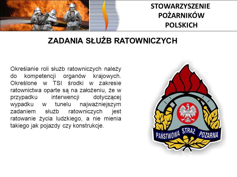 STOWARZYSZENIE POŻARNIKÓW POLSKICH ZADANIA SŁUŻB RATOWNICZYCH Określanie roli służb ratowniczych należy do kompetencji organów krajowych. Określone w