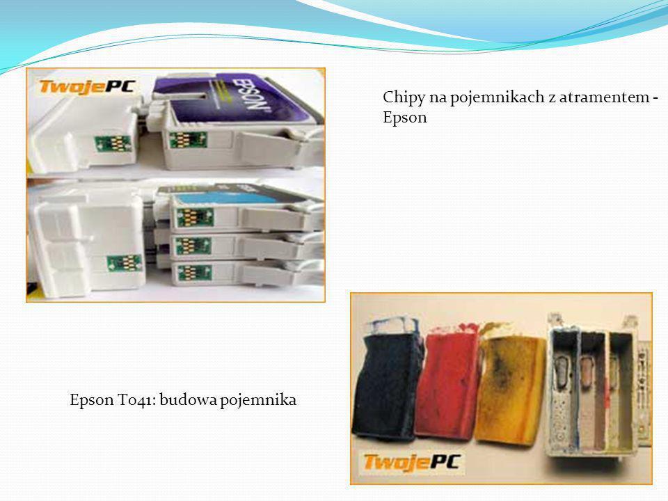 Chipy na pojemnikach z atramentem - Epson Epson T041: budowa pojemnika
