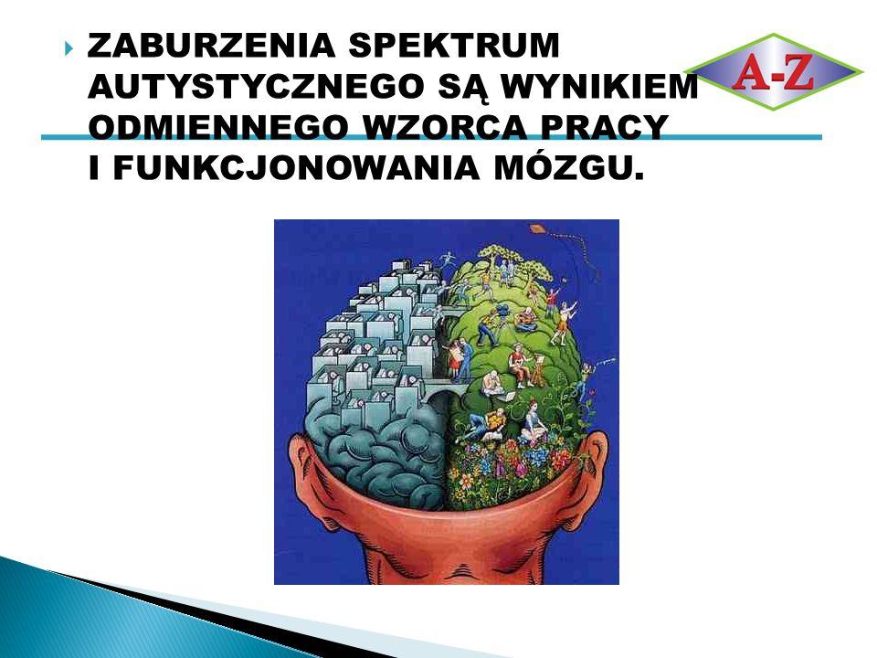  ZABURZENIA SPEKTRUM AUTYSTYCZNEGO  ADHD  ZESPÓŁ ASPERGERA  AUTYZM  INNE POCHODNE ZABURZENIA