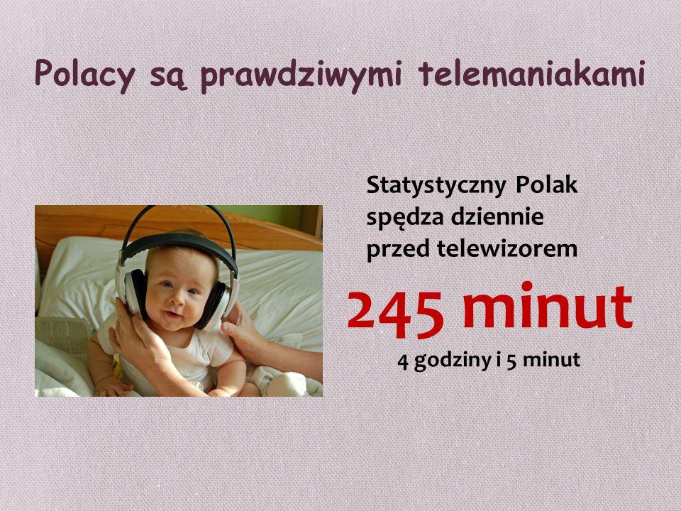 Polacy są prawdziwymi telemaniakami Statystyczny Polak spędza dziennie przed telewizorem 245 minut 4 godziny i 5 minut