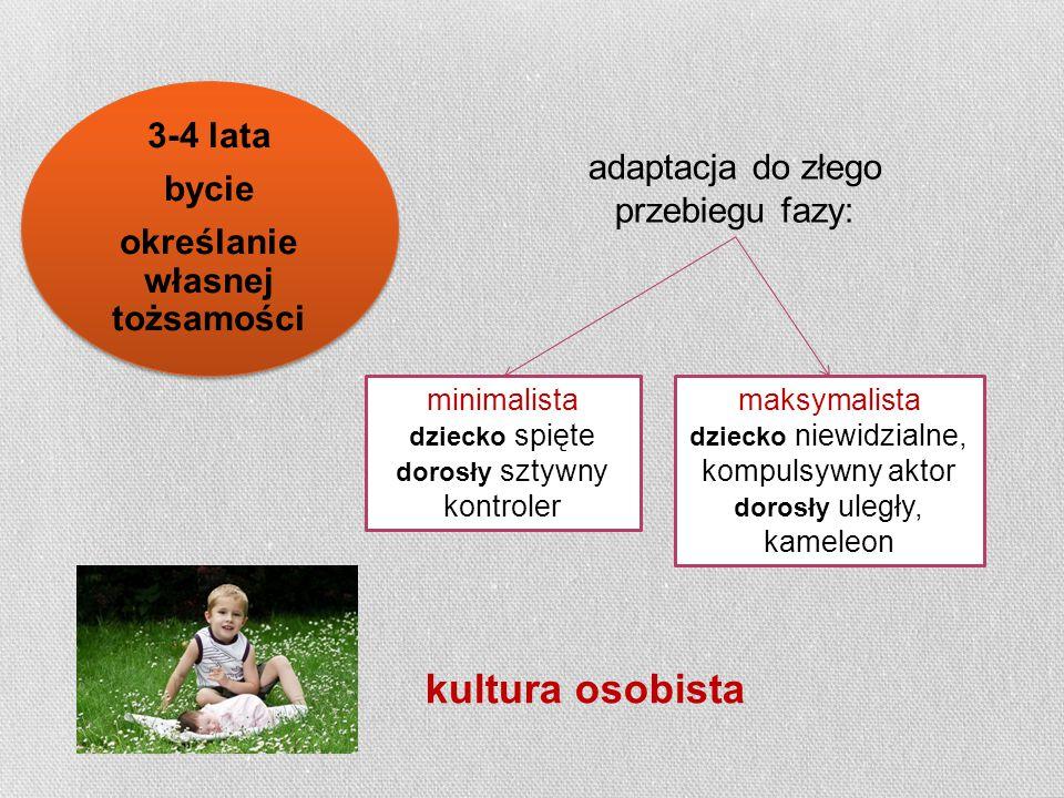kultura osobista adaptacja do złego przebiegu fazy: minimalista dziecko spięte dorosły sztywny kontroler maksymalista dziecko niewidzialne, kompulsywn