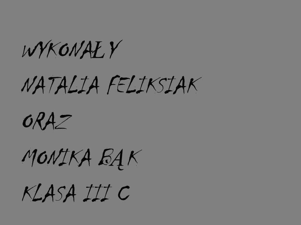 WYKONA Ł Y NATALIA FELIKSIAK ORAZ MONIKA B Ą K KLASA III C