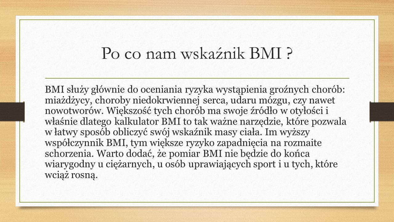 Po co nam wskaźnik BMI .