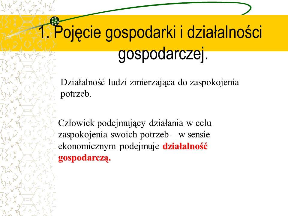 1.Pojęcie gospodarki i działalności gospodarczej.
