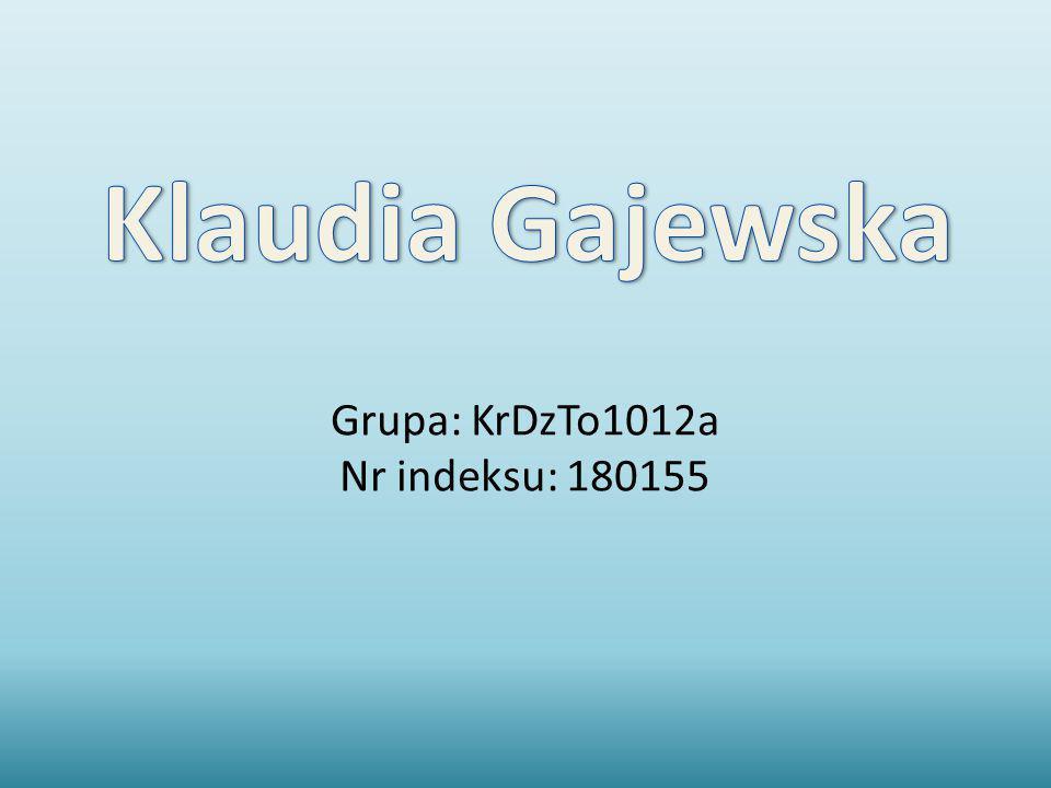 Grupa: KrDzTo1012a Nr indeksu: 180155
