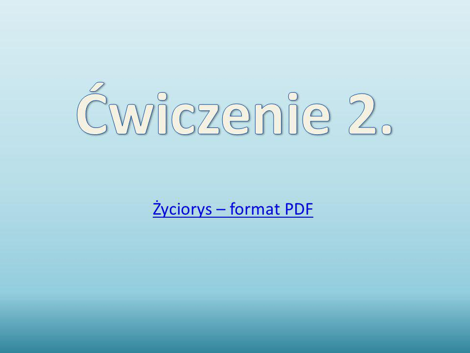 Życiorys – format PDF