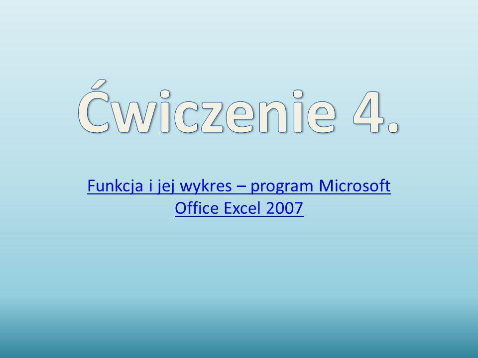 Funkcja i jej wykres – program Microsoft Office Excel 2007