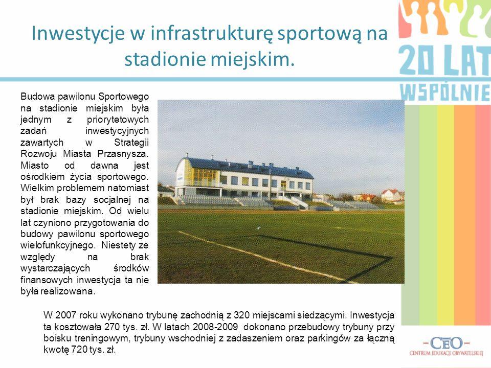 Inwestycje w infrastrukturę sportową na stadionie miejskim. Budowa pawilonu Sportowego na stadionie miejskim była jednym z priorytetowych zadań inwest