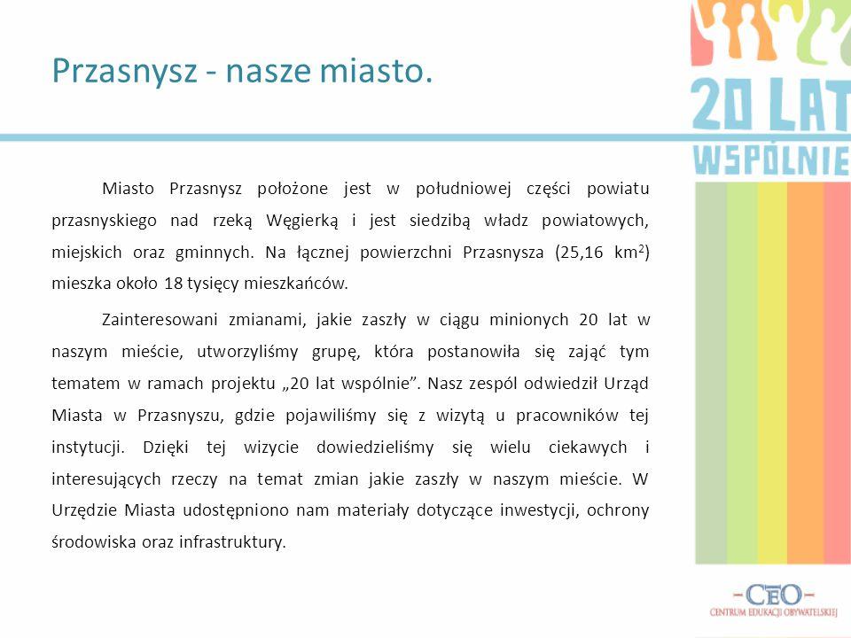 Miasto Przasnysz położone jest w południowej części powiatu przasnyskiego nad rzeką Węgierką i jest siedzibą władz powiatowych, miejskich oraz gminnyc