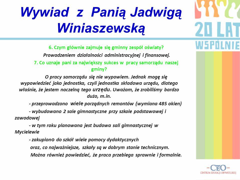 6. Czym głównie zajmuje się gminny zespół oświaty.