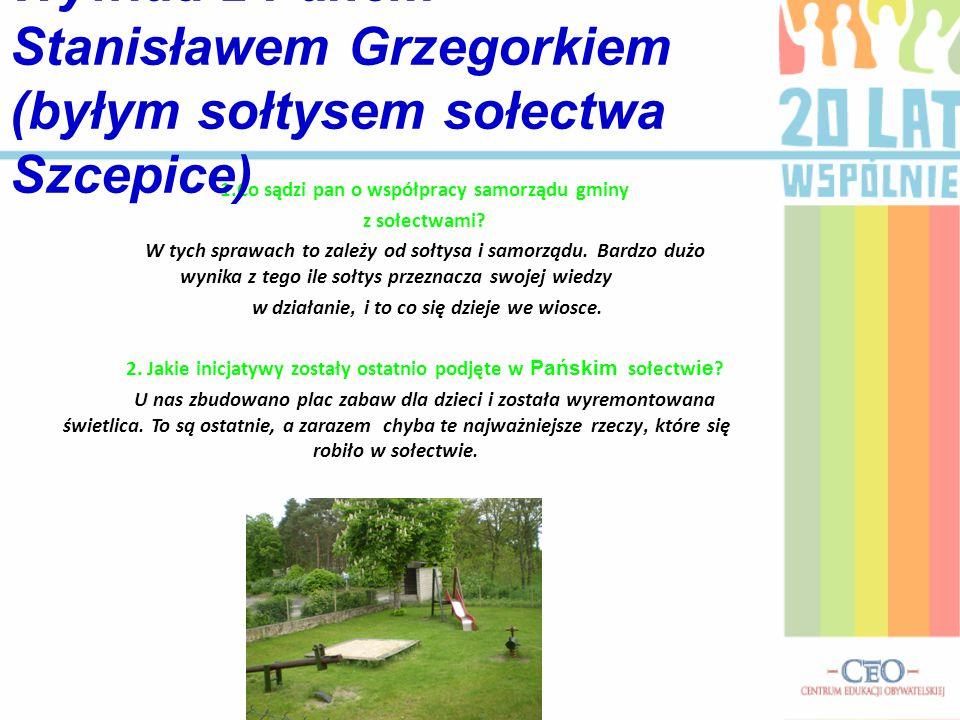3.Jakie działania zostały sfinansowane w sołectwach z budżetu gminy.
