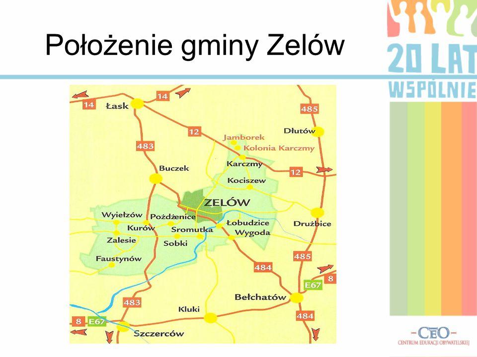 Położenie gminy Zelów