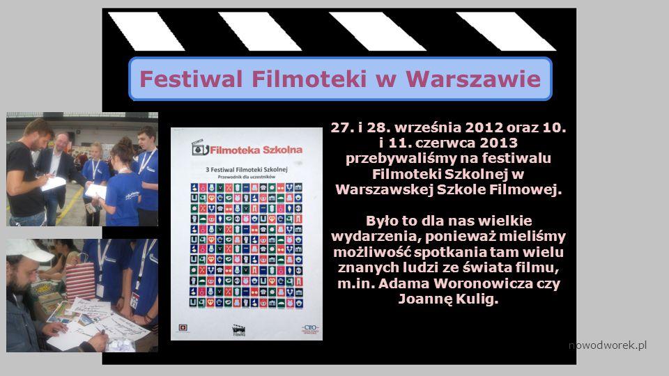 Festiwal Filmoteki w Warszawie 27. i 28. września 2012 oraz 10.