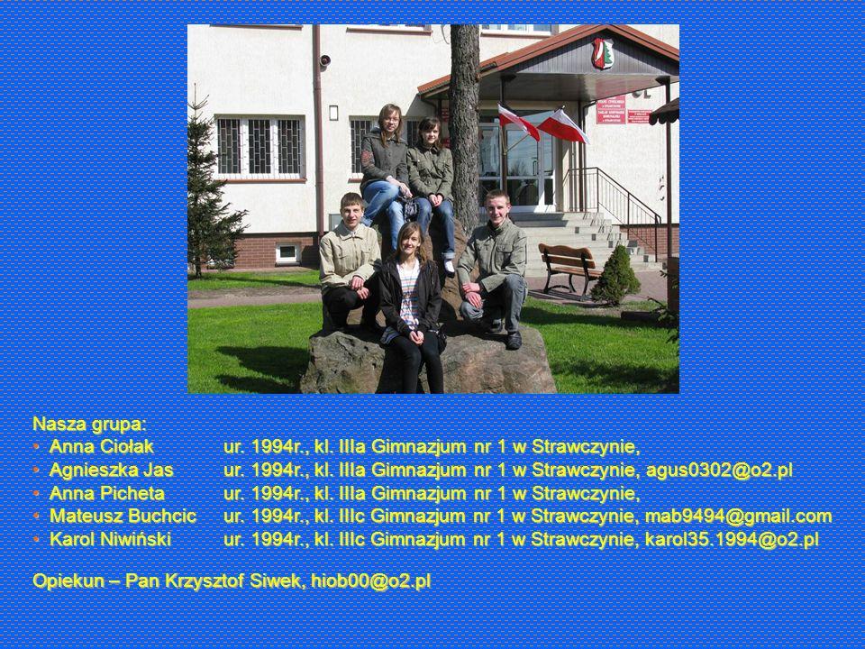 Nasza grupa: Anna CiołakAnna Ciołak Agnieszka JasAgnieszka Jas Anna PichetaAnna Picheta Mateusz BuchcicMateusz Buchcic Karol NiwińskiKarol Niwiński ur.