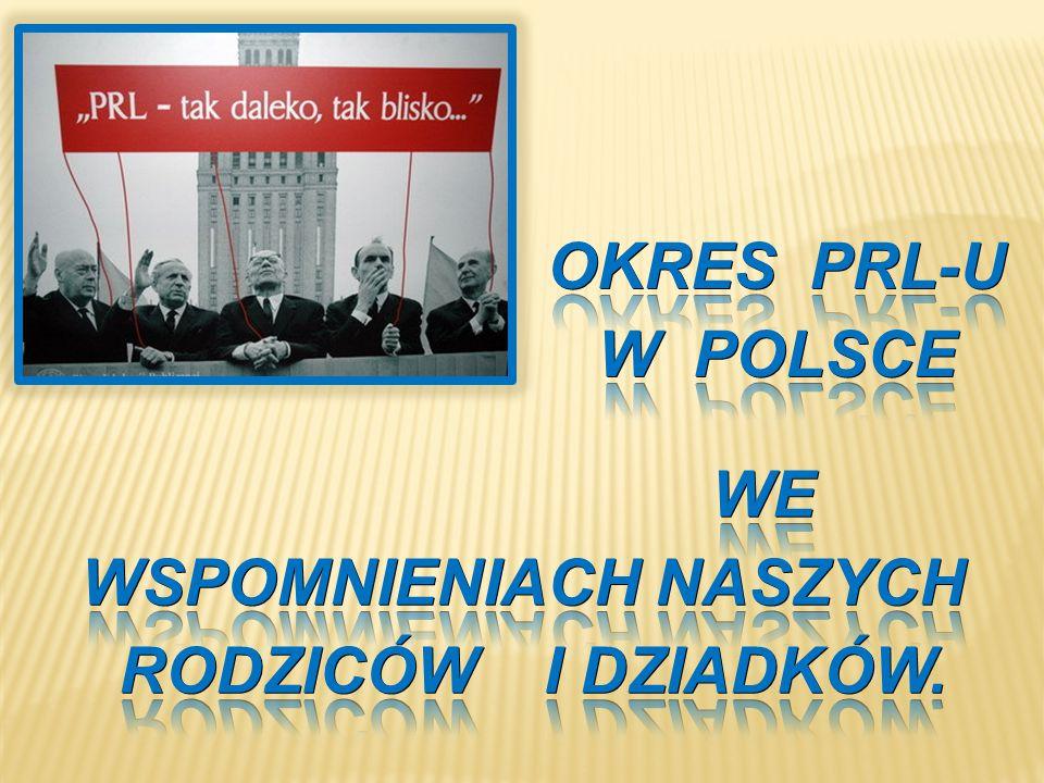 GODŁO PRL (ORZEŁ BEZ KORONY) FLAGA PRL oficjalna nazwa państwa polskiego w latach 1952–1989