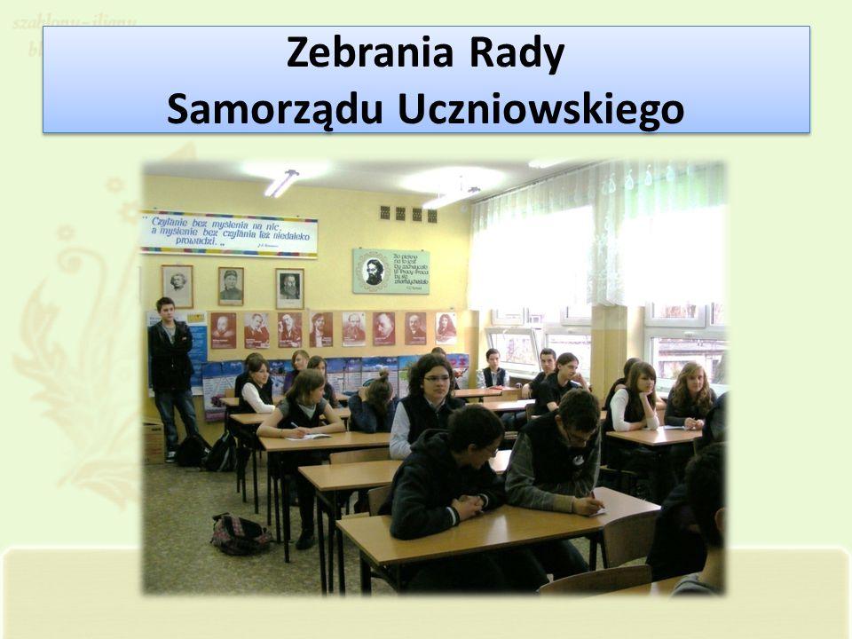 Zebrania Rady Samorządu Uczniowskiego