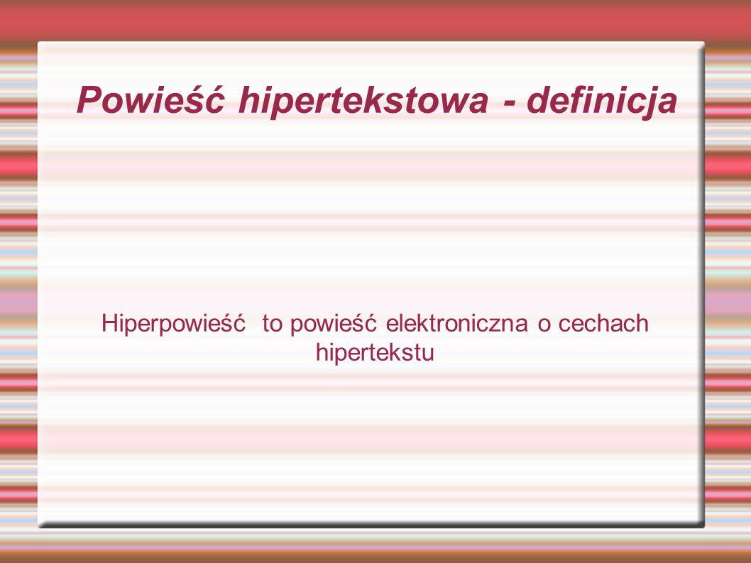 Polskie powieści hipertekstowe - Blok SławomiraShutegoBlok SławomiraShutego - Tramwaje w przestrzeniach zespolonychdr.