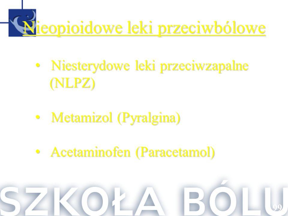Niesterydowe leki przeciwzapalne Niesterydowe leki przeciwzapalne(NLPZ) Metamizol (Pyralgina) Metamizol (Pyralgina) Acetaminofen (Paracetamol) Acetami