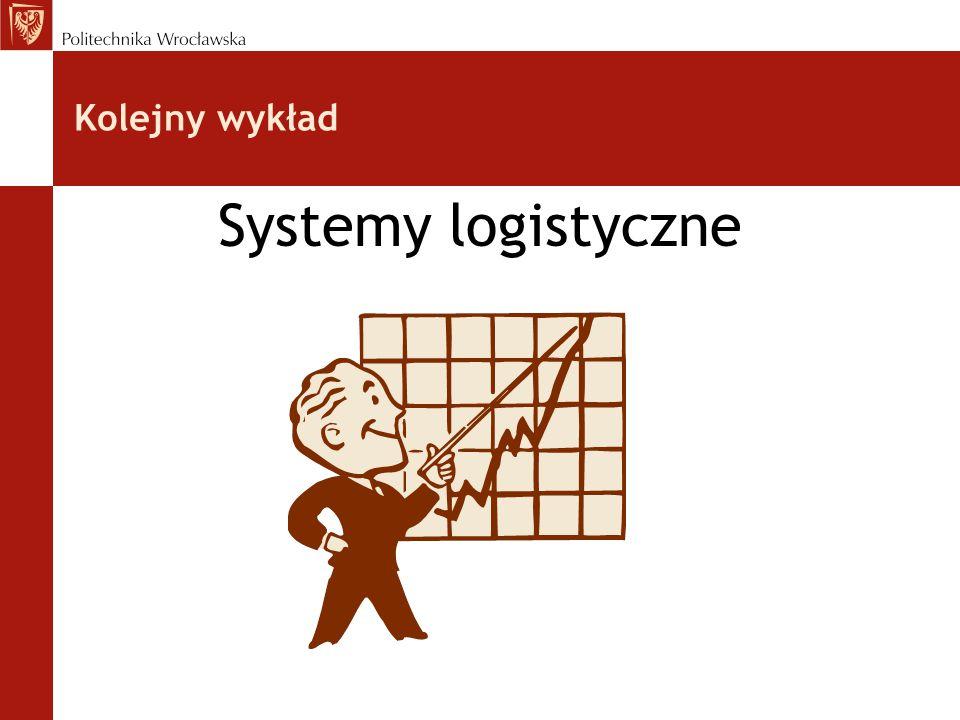 Kolejny wykład Systemy logistyczne