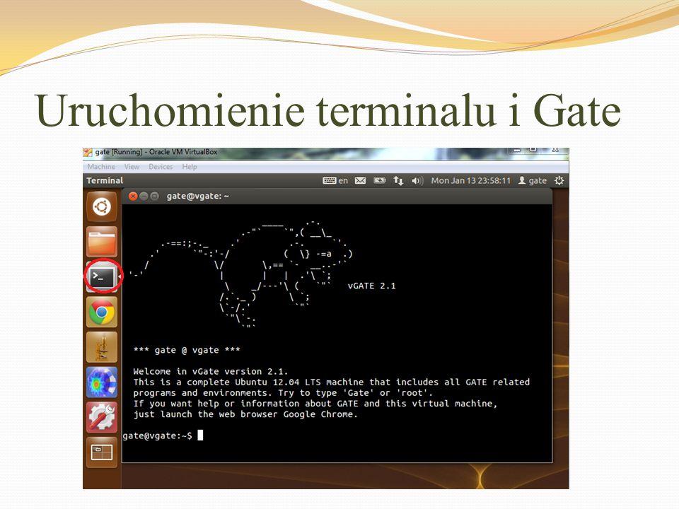 Uruchomienie terminalu i Gate