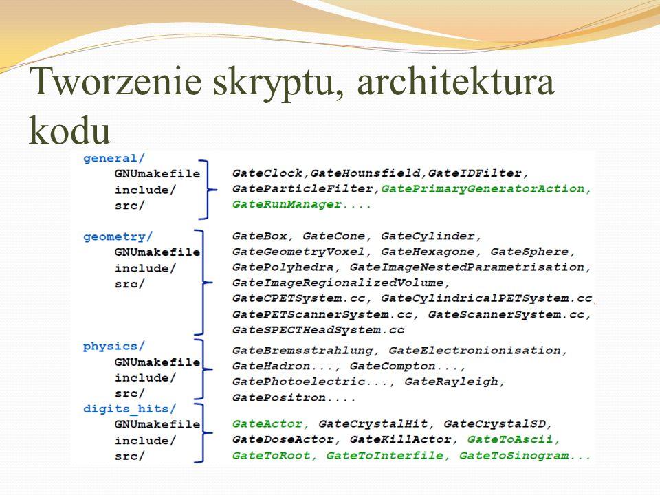 Tworzenie skryptu, architektura kodu