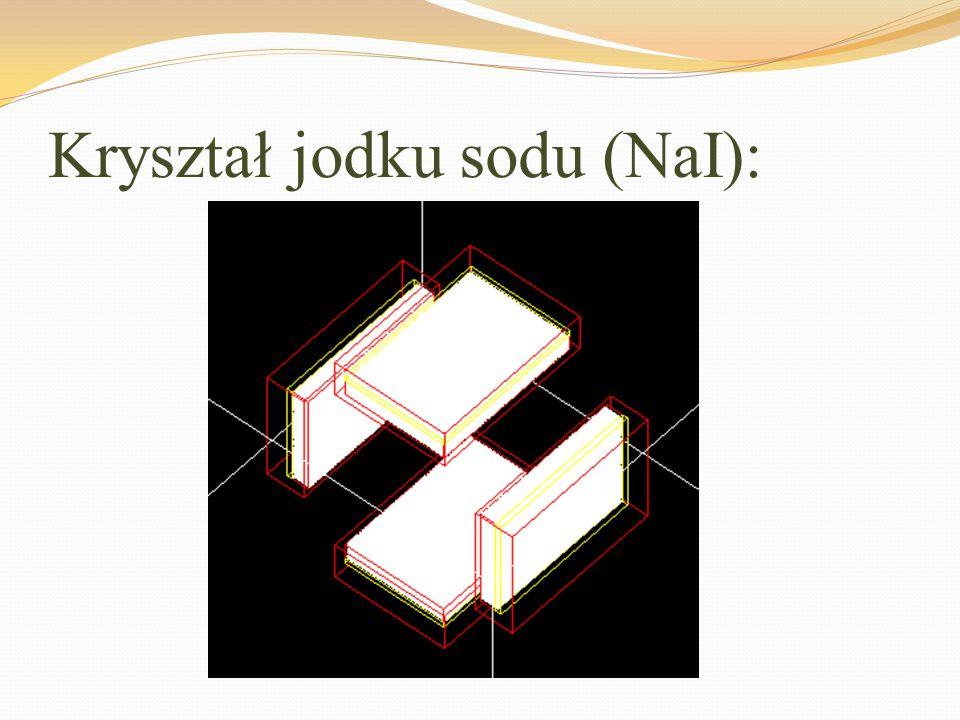 Kryształ jodku sodu (NaI):