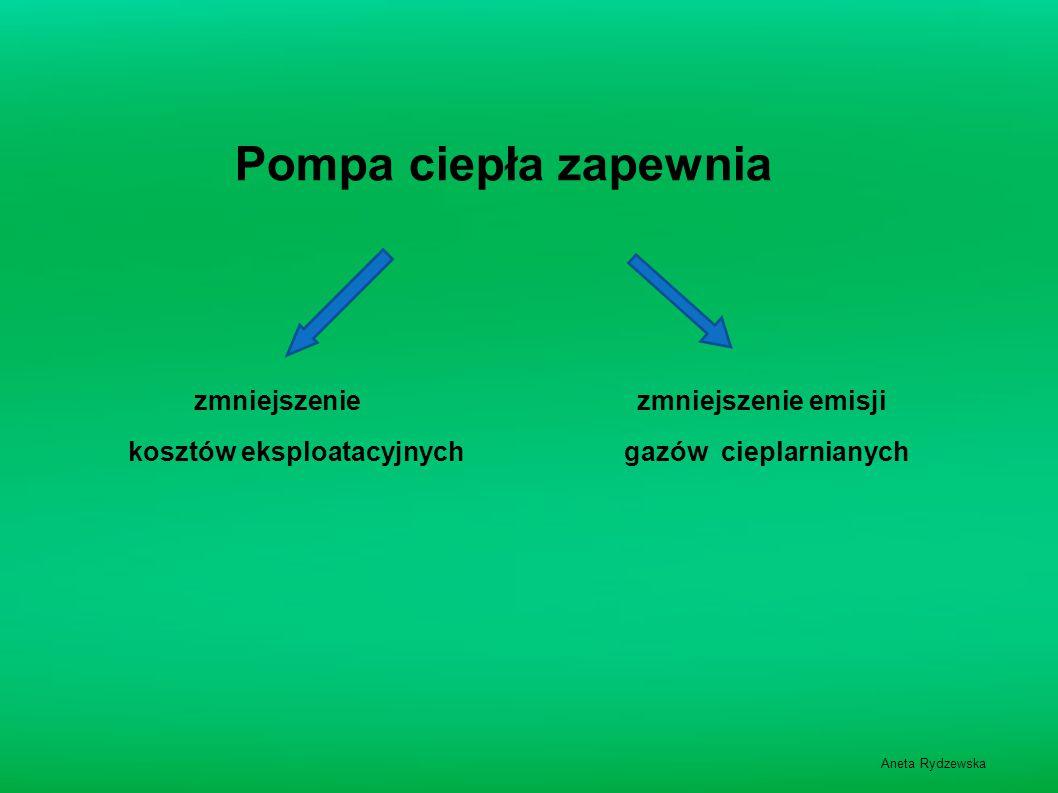 Pompa ciepła zapewnia zmniejszenie zmniejszenie emisji kosztów eksploatacyjnych gazów cieplarnianych Aneta Rydzewska