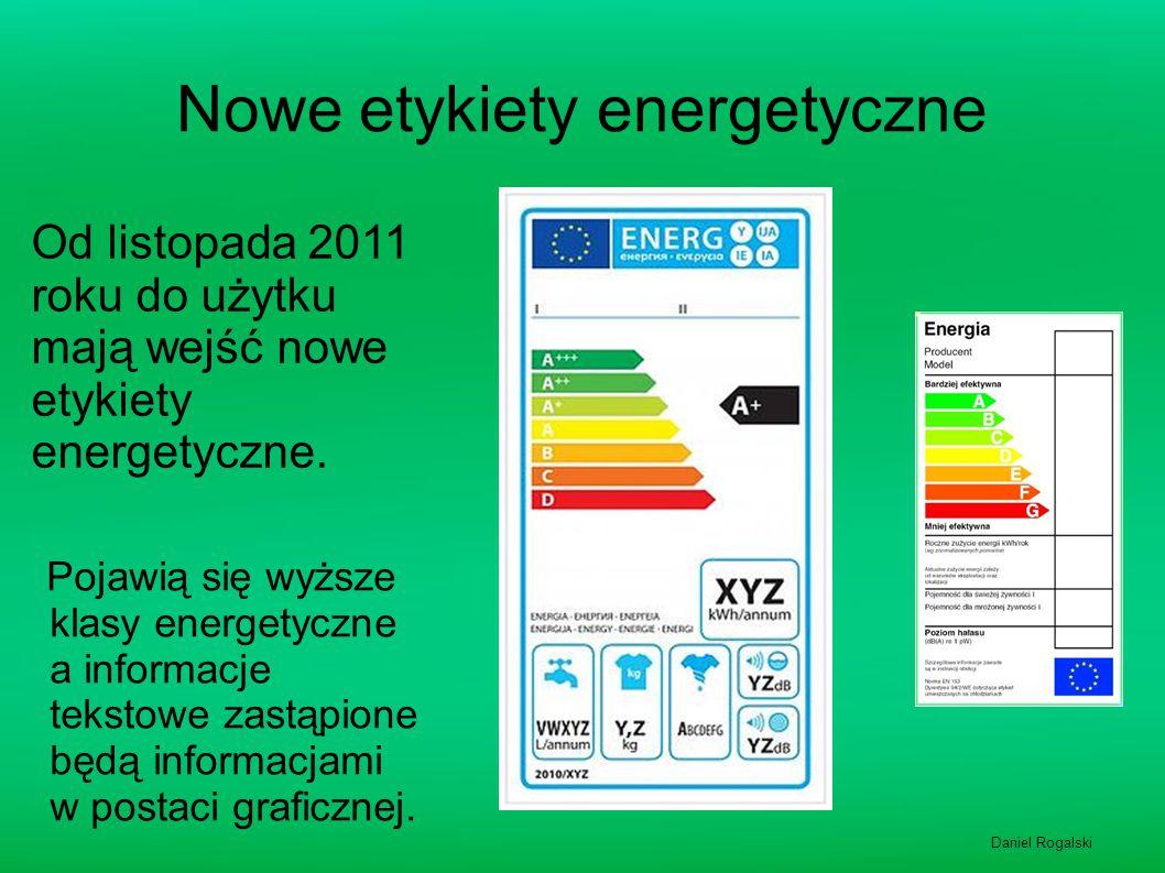 Nowe etykiety energetyczne Pojawią się wyższe klasy energetyczne a informacje tekstowe zastąpione będą informacjami w postaci graficznej. Od listopada