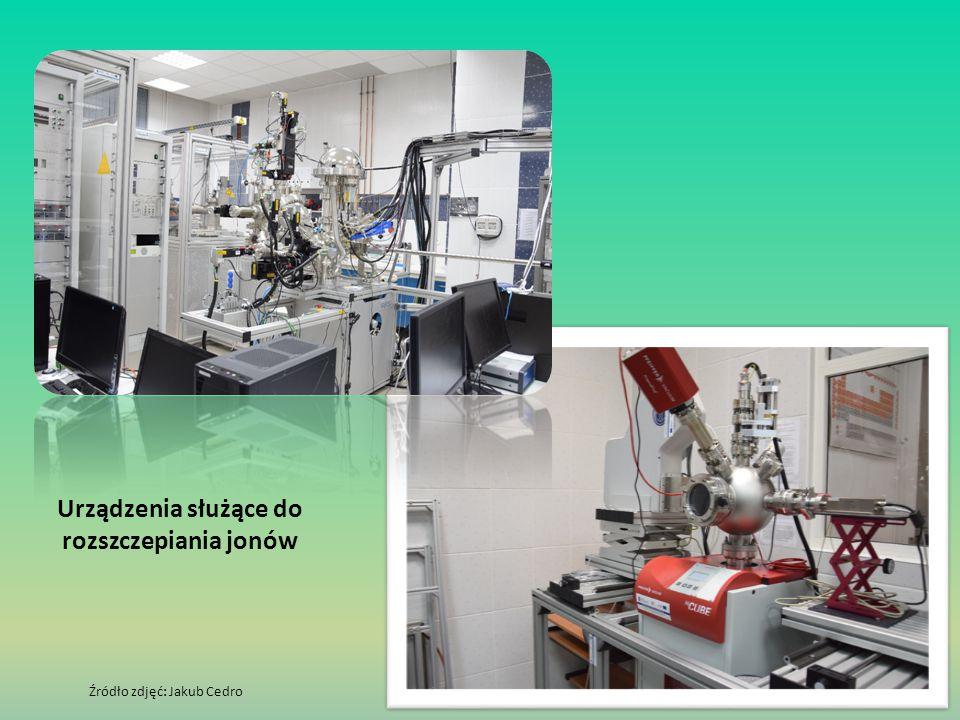 Urządzenia służące do rozszczepiania jonów Źródło zdjęć: Jakub Cedro