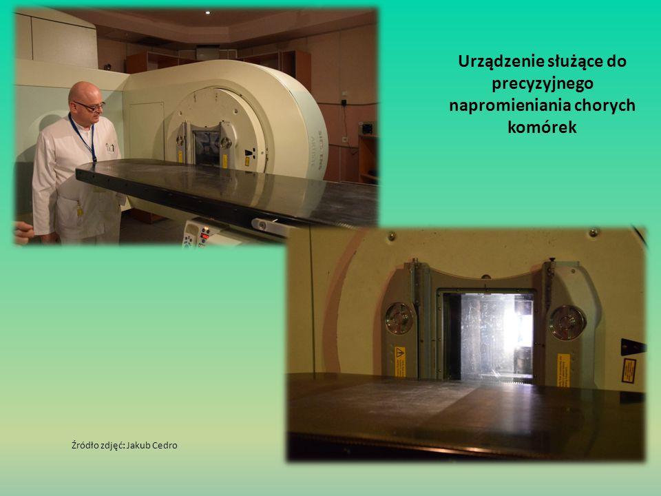 Urządzenie służące do precyzyjnego napromieniania chorych komórek Źródło zdjęć: Jakub Cedro