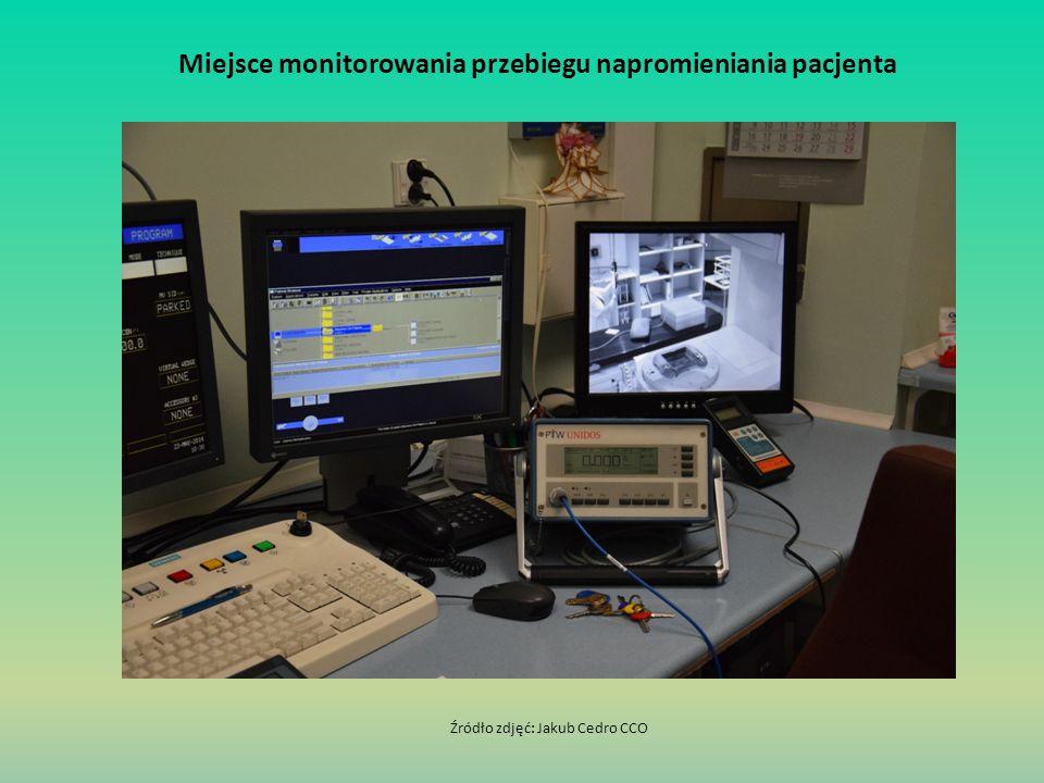 Miejsce monitorowania przebiegu napromieniania pacjenta Źródło zdjęć: Jakub Cedro CCO
