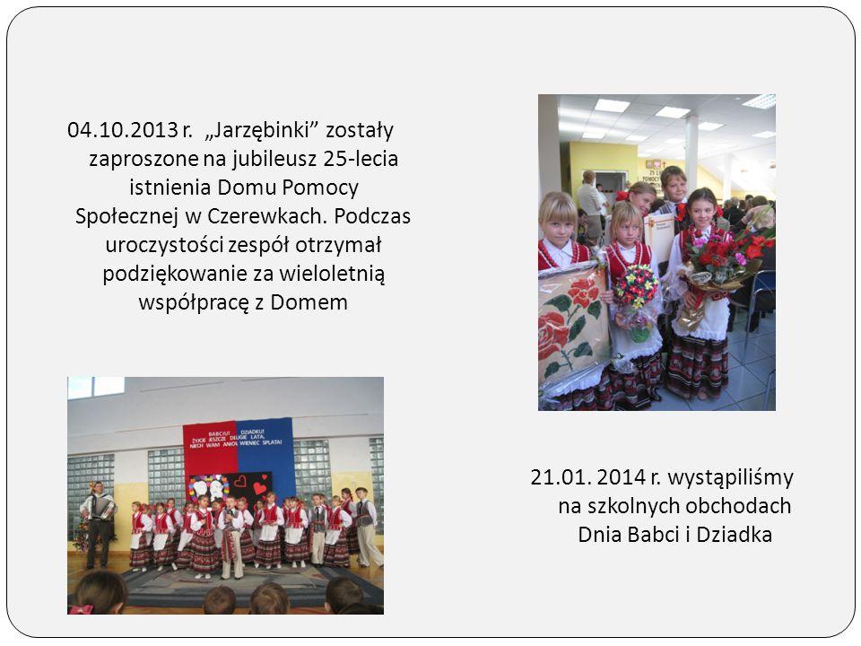"""04.10.2013 r. """"Jarzębinki"""" zostały zaproszone na jubileusz 25-lecia istnienia Domu Pomocy Społecznej w Czerewkach. Podczas uroczystości zespół otrzyma"""